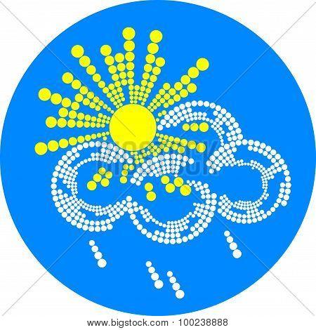 sun and rain weather icon
