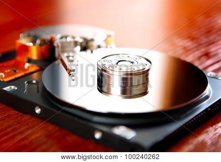 Hard Disk Drive Closeup
