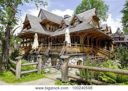 Traditional Building Of Regional Restaurant, Zakopane