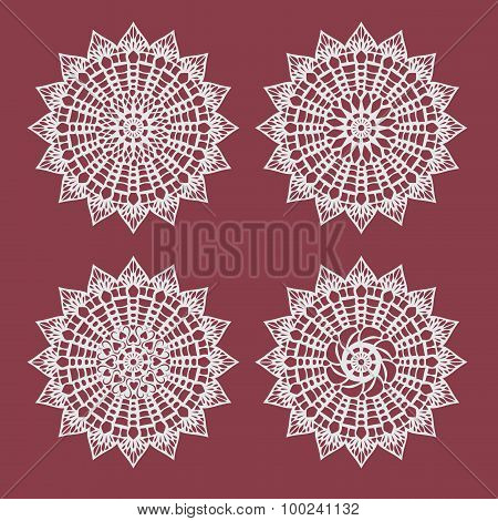 Coaster Paper,perforated Paper Texture Banner