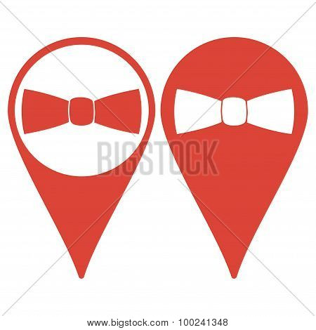 Map Pointer. Tie, Icon Vector