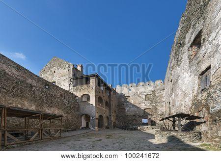 Inside Of Ruins Bolkow Castle, Poland