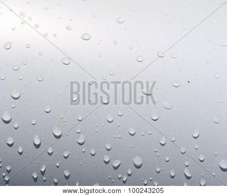 water drop on metal