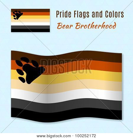 Bear Brotherhood Pride Flag With Correct Color Scheme