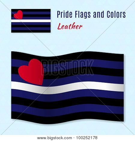 Leather Pride Flag With Correct Color Scheme