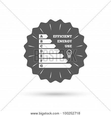 Energy efficiency icon. Electricity consumption