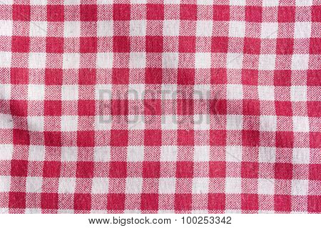 Red Picnic Tablecloth Background.