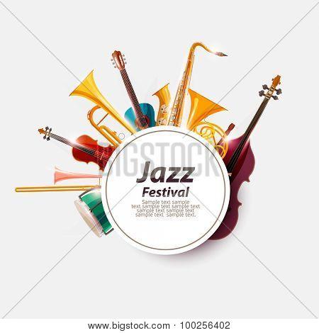 Poster for Jazz Festival.
