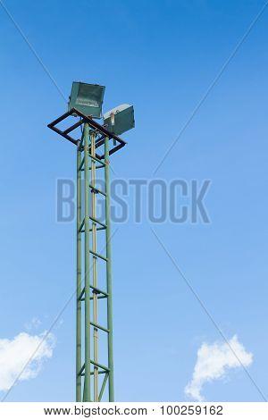 Spot-light Tower On The Sky