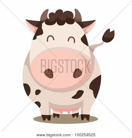 Illustrator of cow cute