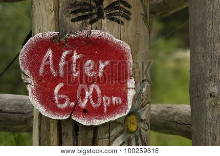 After 6pm Sign