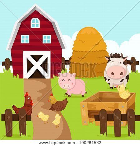 Illustrator of farm and animal