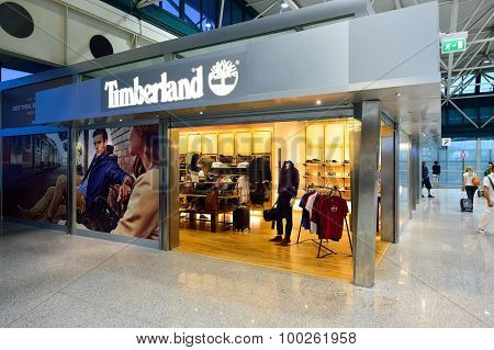 ROME, ITALY - AUGUST 04, 2015: Fiumicino Airport interior. Fiumicino - Leonardo da Vinci International Airport is a major international airport in Rome, Italy