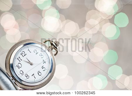 New Year's Clock At Midnight