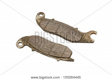 Old Front Disc Brake Pads Of Sport Bike