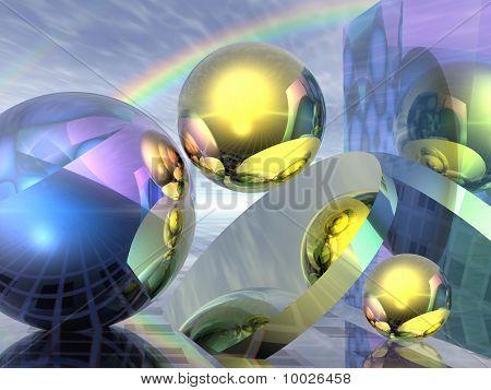 Other worlds under the rainbow