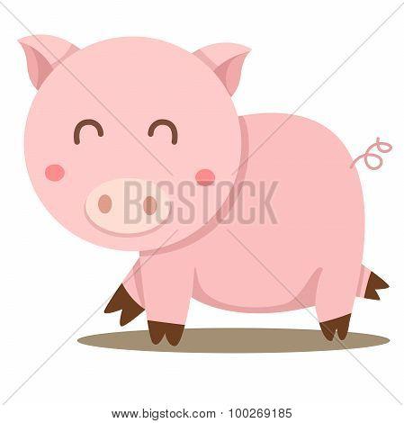 Illustrator of pig cute
