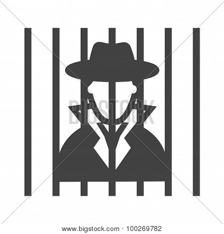 Criminal behind bars