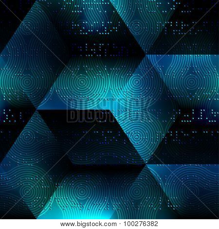 Abstract matrix geometric background.