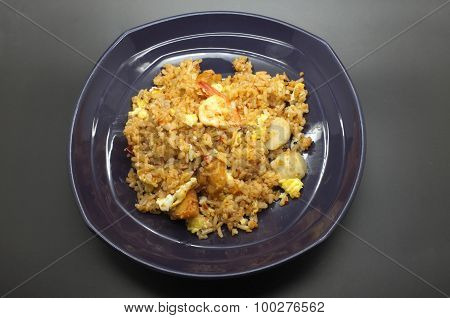 Stir fried rice with chilli paste