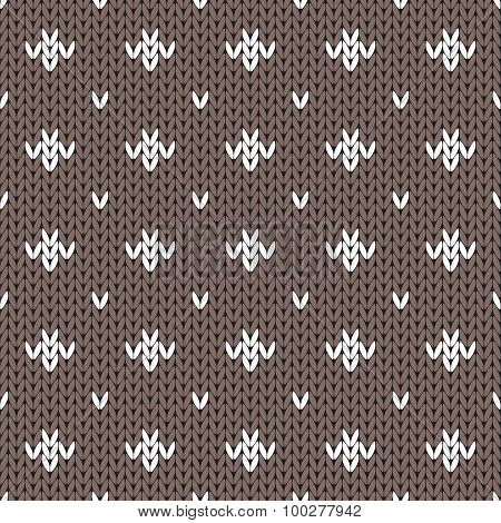 Abstract knitted seamless pattern background. Vector