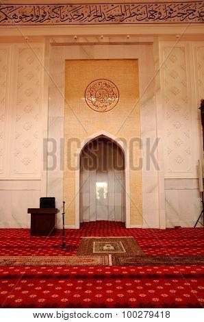 Mihrab of Tengku Ampuan Jemaah Mosque in Selangor, Malaysia