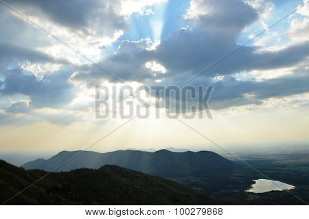 mountain and sky landscape