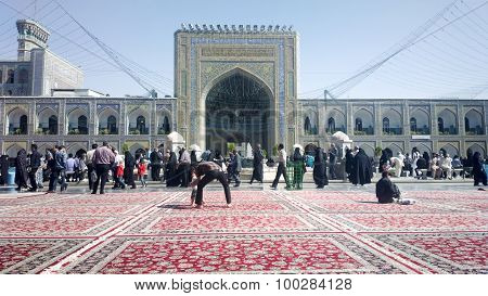 The shrine of Imam Ali al-Rida