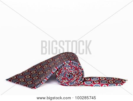silk tie roll isolated