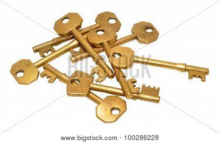 Old Brass Door Keys