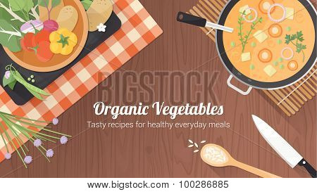 Vegetarian healthy recipes banner