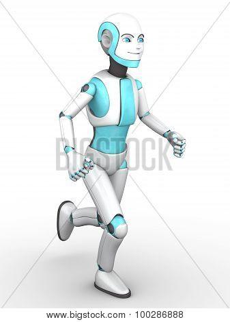 Toon Robot Boy Running Nr 2.
