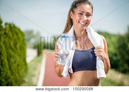 Beautiful Runner Girl
