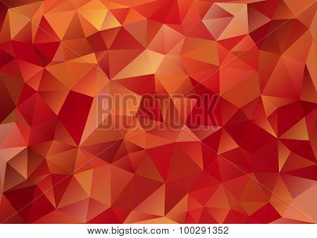 Cubism Background Bitter Dark Red