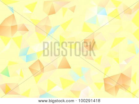 Cubism Background Pale Yellow And Orange Blue
