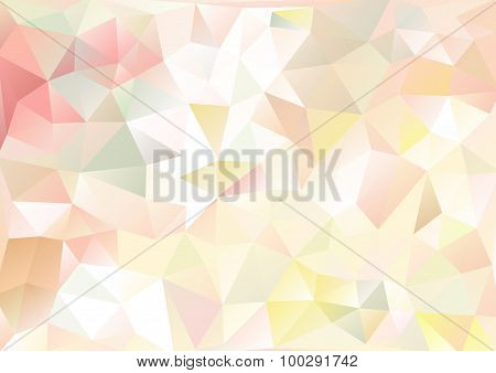 Cubism Background Pale Pink And Multicolor