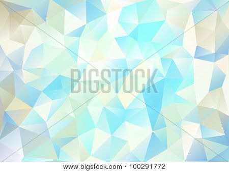 Cubism Background White And Cyan