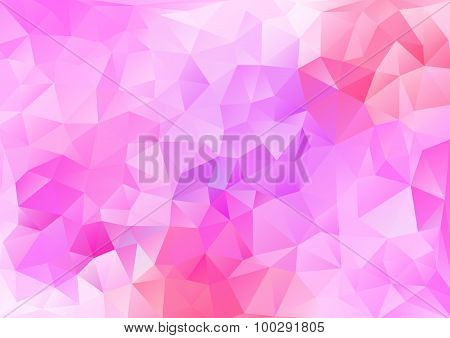 Cubism Background White And Bright Peach Red