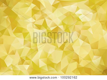 Cubism Background Japanese Style Gold