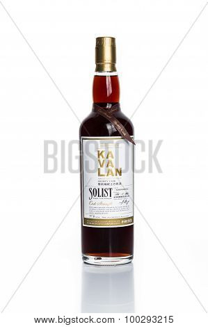 KUALA LUMPUR, MALAYSIA - February 24, 2015: Taiwan's leading whiskey brand, Kavalan is now available