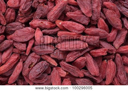 Goji Berries, A Fruit Berry And Medicinal Plant