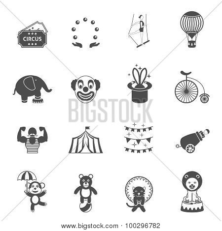 Chapito circus icons set black