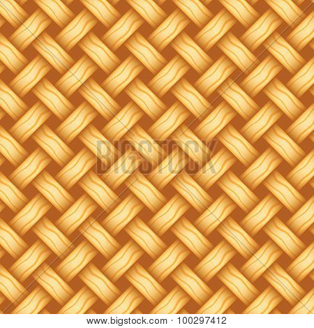 Repeating Wicker Weave Style Background Orange, Vector Format