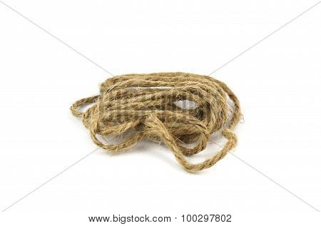 blur of Ropes Isolated On White Background