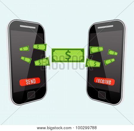 People sending and receiving money