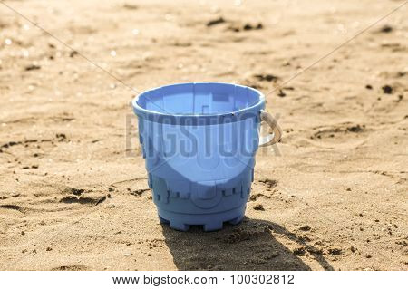 Sand toys on the beach of Lake Balaton.