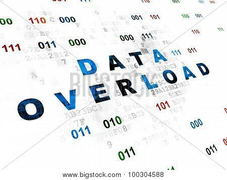 Information concept: Data Overload on Digital background