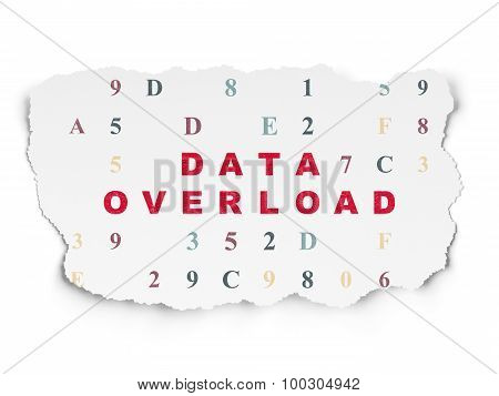 Information concept: Data Overload on Torn Paper background