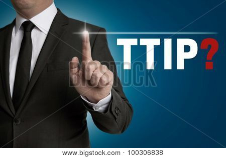 Ttip Touchscreen Is Operated By Businessman Concept