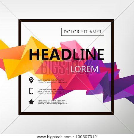 Vector Poster, Banner, Flyer, Cover, Brochure Template design.